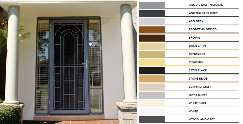 Decorative door Colours Rockingham Mandurah Balis & Decorative Doors - Rockingham City Robes and Security